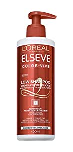 Elsève Low Shampoo Color Vive Crème Lavante Délicate pour Cheveux Colorés 400 ml