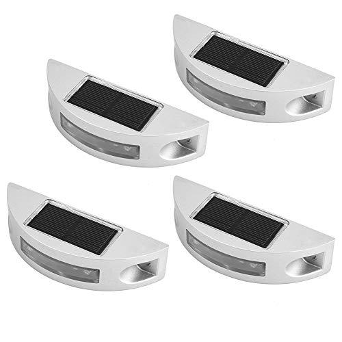 Sicherheit Solar Deck Lichter - 6 LED Outdoor wasserdichte Solar Road Stud Lichter für Einfahrt Garten Rasen Lampen - grün (4er Pack) - Installation Tool Stud