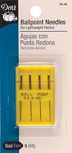 Ball Point Machine Needles-Size 9/65 4/Pkg