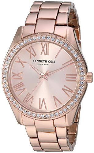 Kenneth Cole Women's Gold Tone Steel Bracelet & Case Quartz Watch KC50664002