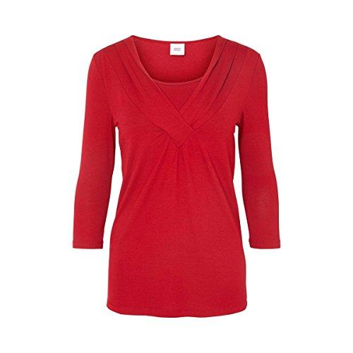 MAMALICIOUS - T-Shirt à manches longues - Femme Rouge