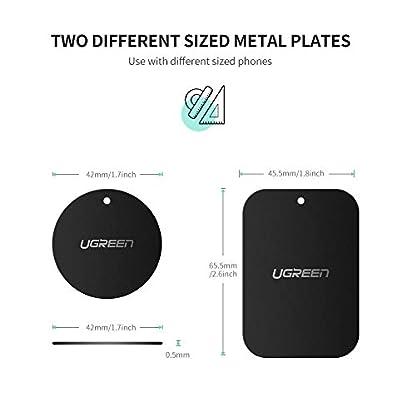 UGREEN-Metallplatte-fr-Magnet-KFZ-Handy-Halterung-Metallplttchen-selbstklebend-Handyhalterung-Metall-Platte-fr-Handy-mit-3M-Klebefolie-fr-kfz-handyhalter-4-Stck-2-Runden-und-2-Rechteckigen