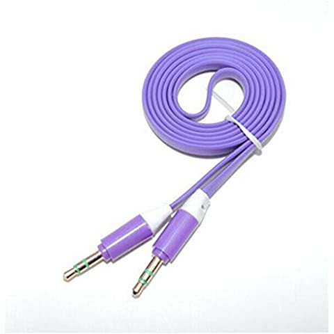 TAIMO Audio Car Line con 3.5mm audio cavo maschio pubblica Aux Cable Car Audio Cavo AV ( colore : Viola scuro