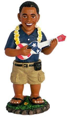 Barack Obama Playing the Ukulele Dashboard Doll 4