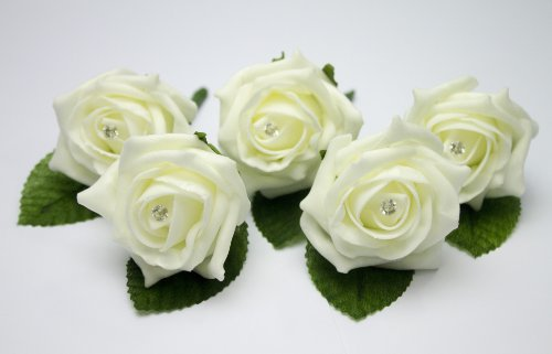 5-Ivory-Wedding-Buttonholes-with-Daimante-Pins