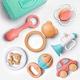 GizmoVine Sonaglio Neonato Infantile Scuotendo la Campana Set sonaglio con Conservazione Scatola BPA Giocattoli gratuiti per Neonato