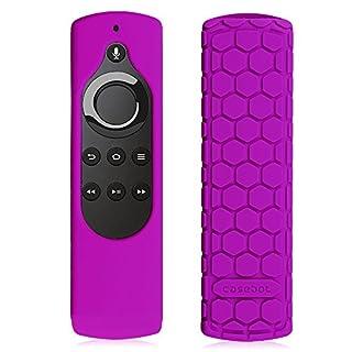 CASEBOT Hülle für Fire TV Stick mit Alexa-Sprachfernbedienung (1. Generation), Amazon Echo/Echo Dot Alexa Voice Remote - Leichte Rutschfeste Stoßfeste Silikon Schutzhülle, Lila