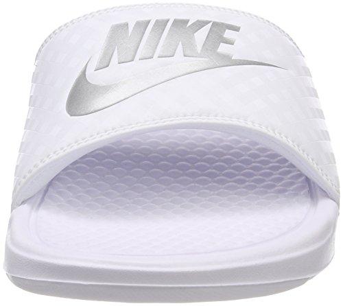 Piscina White Argento Da Nike Donna E Benassi 102 Metallizzato Scarpe bianco Jdi Spiaggia 8qYwSfx