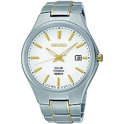 Seiko Men's Quartz Watch with Titanium SNE379P1