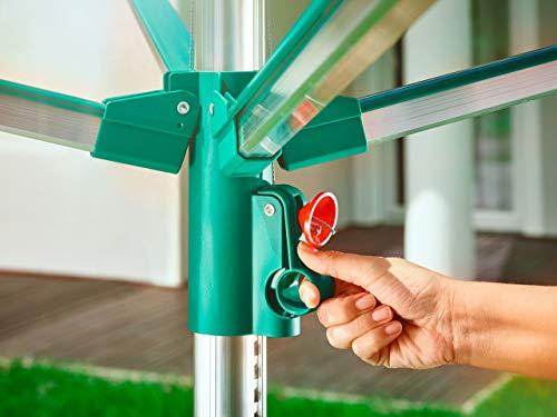 Leifheit Linomatic 500 Comfort Tendedero, Verde Metálico, 231x16.5x16.5 cm