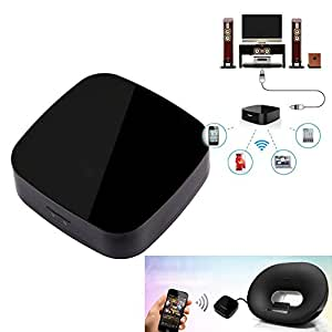 VKTECH® Récepteur Audio Sans Fil AirMusic AirPlay WIFI DLNA Qplay Music Audio Radio Pour IOS Android