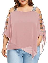 Blusas Camisas Tops es Y Rosa Camisetas Amazon Ropa Blusas I0Ywwx