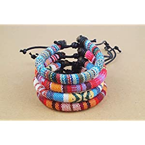 4x Surfer-Armband Set Festival Schmuck Made by Nami - Freundschaftsarmband, Beach Bracelet, Surfer, Armband new mix