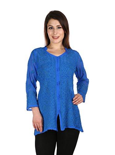 Indiankala4U - Robe - Femme Bleu Marine