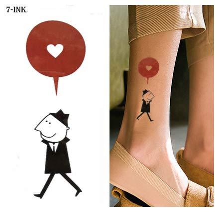 tzxdbh 6 Pirce Wassertransfer Tattoo Cartoon Herz Ballon Mann Tattoo Wasserdicht Temporäre Tätowierung Für Mann Frau Kind 10,5 * 6 cm - Haut-ebene Ballon
