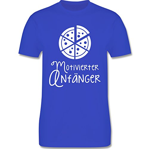 Küche - Motiverter Anfänger Pizza - Herren Premium T-Shirt Royalblau