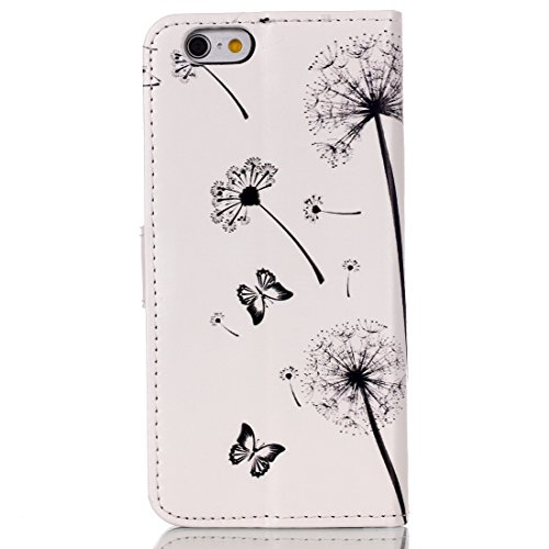 iPhone 6S Coque Fille,iPhone SE Coque Femme,iPhone 6S Coque en Cuir Folio Etui pour iPhone 6,Coque Etui pour iPhone 6S,iPhone 6S Wallet Leather Flip Case Protective Cover pour iPhone 6 4.7 Pouce,EMAXE Dandelion Lover 10