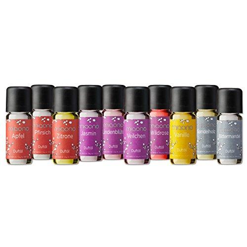 Duftöl Set - Wunderbare Welt der Düfte No. 2 - 10x feiner Raumduft - Aromaöl für Duftlampe und Diffuser von miaono - Aroma-Öl-kerze