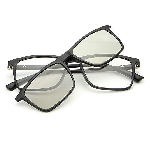 Easy Go Shopping Männer Und Frauen Magnetspiegel Kann Mit Myopie Clips Polarisierte Sonnenbrille Mit Vier Spiegeln Für Sonnenbrillen und Flacher Spiegel (Color : Silber, Size : Kostenlos)