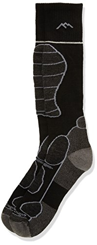 Darn Tough Vermont Men's Function 5 OTC Padded Cushion Skiing Socks, Black, Large