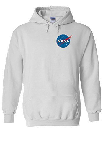 Nasa National Space Packet Pocket America White Men Women Unisex Hooded Sweatshirt Hoodie-S