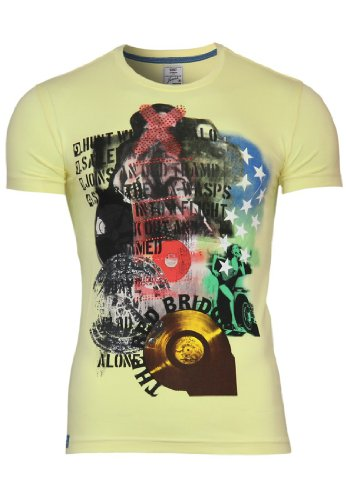 Red Bridge T-Shirt Party Slim Fit Max Yellow