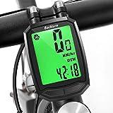 BACKTURE Compteur de vélo, Ordinateur de Vélo sans Fil Étanche,Compteur de Vitesse avec Rétroéclairage LCD d'affichage de...