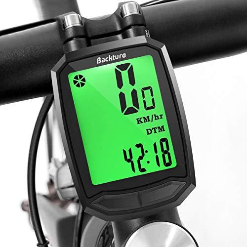 BACKTURE Compteur de vélo, Ordinateur de Vélo sans Fil Étanche,Compteur de Vitesse avec Rétroéclairage LCD d'affichage de l'écran pour vélo Realtime Speed Track et Distance (A)