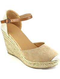 597e1eafed5b Yying Femme Sandale Été Givré Splice Couleur Sandales Compensées ...