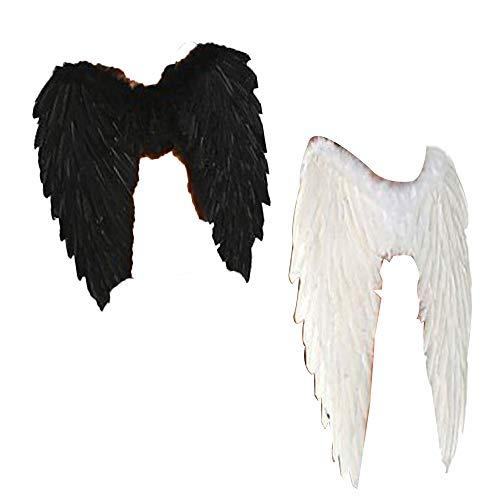 Tanz Erwägungsgrund Kostüm - Isuper 45 * 60 cm Halloween Engelsflügel Requisiten Zufällige Farbe 1 Paket