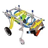 Sedia A Rotelle per Cani, Hind Leg Allenamento Assistito Animali Domestici Disabili Scooter per Sedie A Rotelle Teddy 4 Ruote Carrello per Cani Passeggino Regolabile (Dimensioni : S.)
