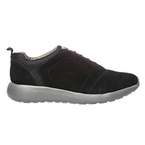 Chaussures de sport Hommes Cuir véritable Daim et tissu synthétique Avirex Mod. Douglas Albatros 162-M-193-05 Noir