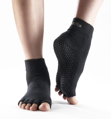 Yoga Mad - Calcetines deportivos antideslizantes negro negro Talla:mediano