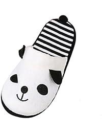 Belle Cartoon Panda Home sol chaussons, doux Stripe Femme Chaussures c732921a8ae1
