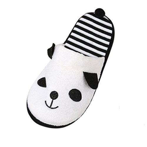 Belle Cartoon Panda Home sol chaussons, doux Stripe Femme Chaussures