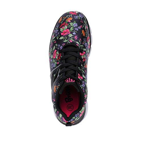 Bruetting Ambrosia Damen Freizeitschuhe Sneaker Schwarz/Pink
