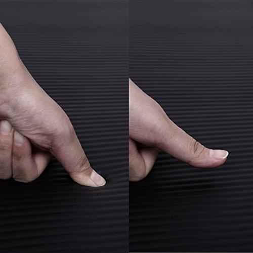 Songmics Tapis de Yoga 183 x 61 x 1,0 cm Maison Antidérapant Mousse Pilates fitness Gymnastique Noir FYG61H