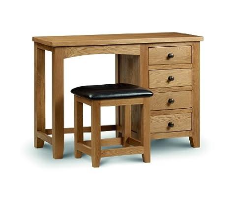 Julian Bowen Marlborough Single and Twin Pedestal Dressing Table and Stool (Marlborough Single Pedestal Dressing Table)