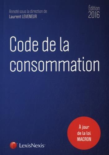 Code de la consommation 2016