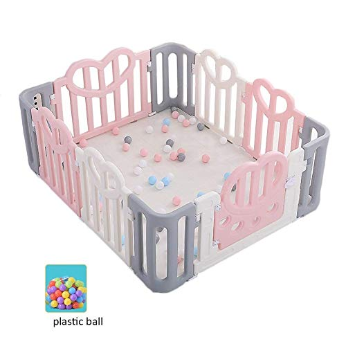 LGZW Baby-Spiel-Zaun, Plastikzaun-Raumteiler-Zaun Der Tragbaren Kinder, Innen- Und Im Freienspiel-Sperren-Tätigkeits-Verkleidung (Size : 150X120X64CM) -