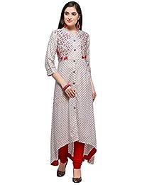 Raisin Women's Handloom Cotton Kurti With Scarf