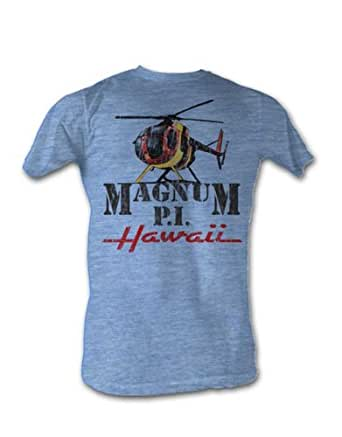 Magnum T-Shirt, Mens Officially Licensed Hawaii Blue, X-Large, Chest 46 - 48""