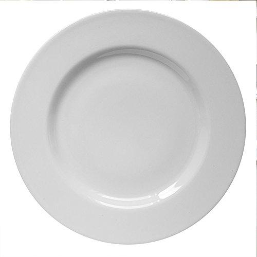 Saturnia Lot 6 Assiettes Porcelaine Blanche série Ischia fabriqué en Italie 6 Piatti Piani 26cm