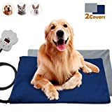 Viflykoo Heating mat for pets, Electric heating pad with 7 Adjustable temperatures 30W Warming mat Soft pet heating pad for dogs and cats Indoor heat mat (65 * 40cm)