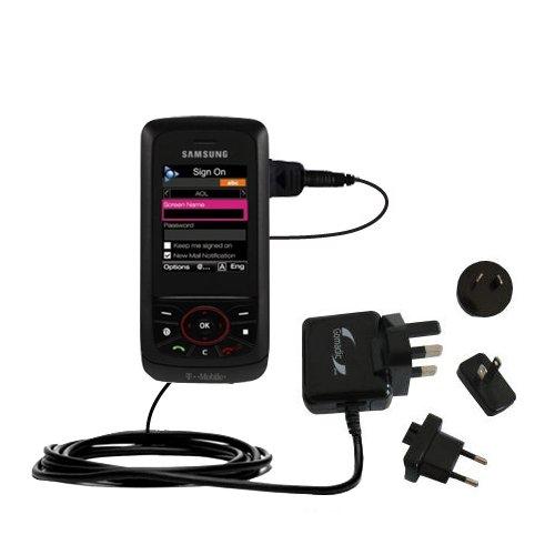 10W Gomadic Steckdosen-Ladegerät AC kompatibel mit Samsung SGH-T729 mit Energiesparmodus und TipExchange