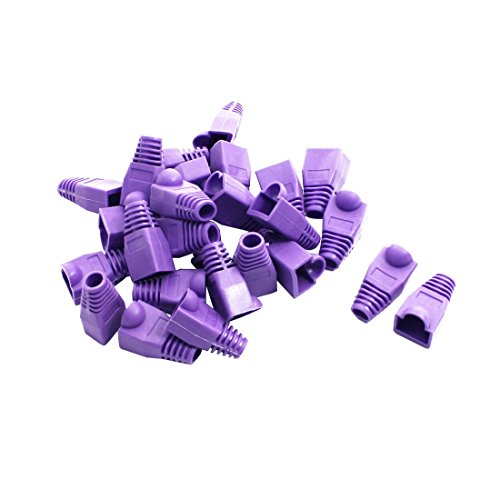 Sourcing map 25 Piezas Morado Red Cable RJ45 Enchufe