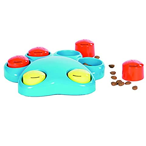 Outward Hound Kyjen 41014 Paw Hide Mini Treat Toy Dog Toys Scent Puzzle Training Toy, Small, Blue