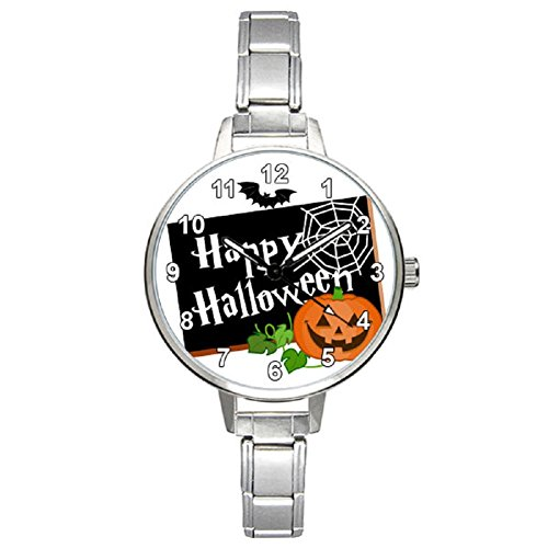 Timest - Happy Halloween Damenuhr Italian Charms Rund Analog Quarz BM0089