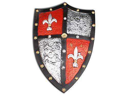 24costumes Ritterschild aus Latex | Kreuzritter Schild für Karneval - Halloween - England Ritter Kostüm