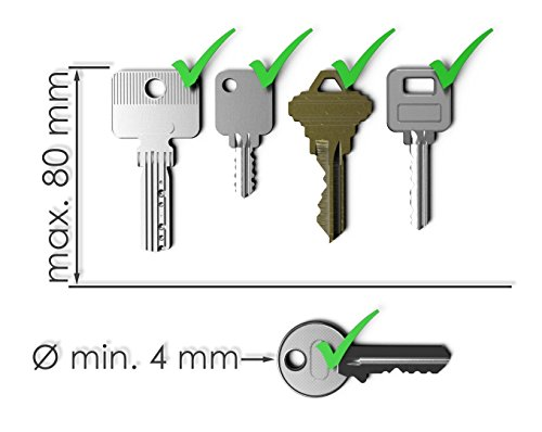 WUNDERKEY ® – der Key Organizer Made in Germany [ Schlüssel-Organizer | Schlüssel-Etui | Schlüssel-Mäppchen | Smart Key Gadget | das Original bekannt aus GQ & Playboy ]